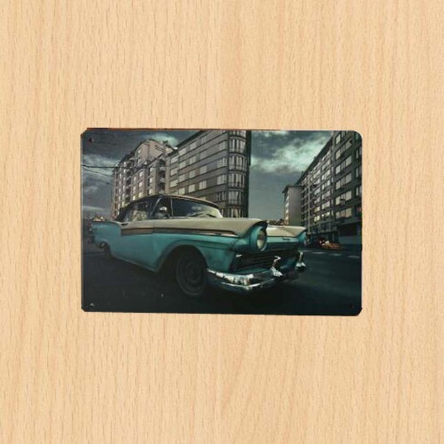 New 20 30cm Road Car Room Decor Tin Plate Signs Vintage Metal Sign Garage Nostalgia