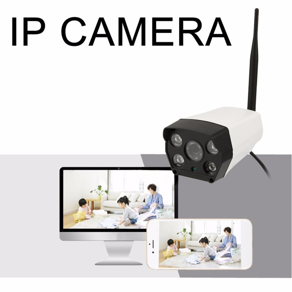 LESHP Outdoor Waterproof Wireless HD Smart IP Camera Digital Wi-Fi Network Video Camera Monitoring for Security Baby monitor digital wireless security kit four channel available monitoring