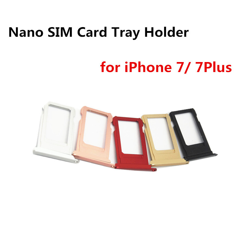 Can Customize IMEI Number Nano SIM Card Tray Holder For iPhone 7 7 Plus 7plus SIM Holder Slot Tray Container Adapter Replacement