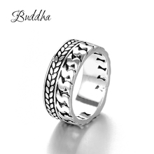 Buy Buddha Ring Silver And Get Free Shipping On Aliexpress Com