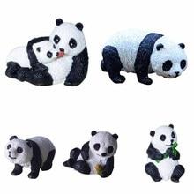 Resin mini panda jewelry, micro landscape sculpture, bonsai, gardening decoration