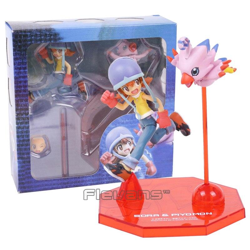 Digimon Adventure Digital Monster Piyomon & Takenouchi Sora PVC Action Figure Collectible Model Toy(China)