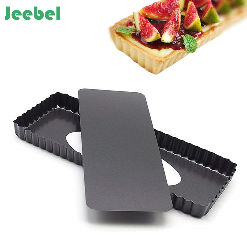 Jeebel Fluted Cake Pan Mold Baking Removable Bottom Nonstick Quiche Tool Baguette Baking Tray Cake Pans