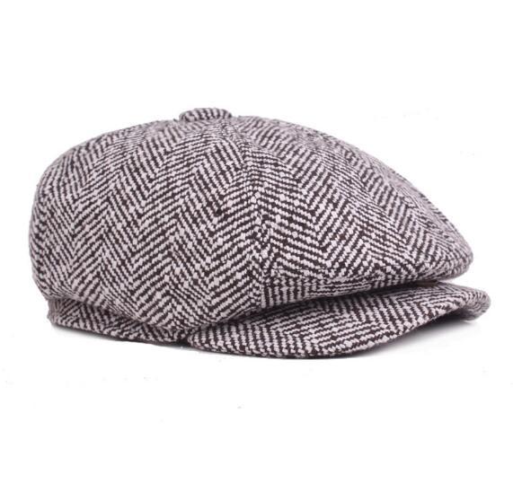 dab1b26ec94 15PCS Herringbone Tweed Gatsby Newsboy Cap Men Wo Ivy Hat Golf ...