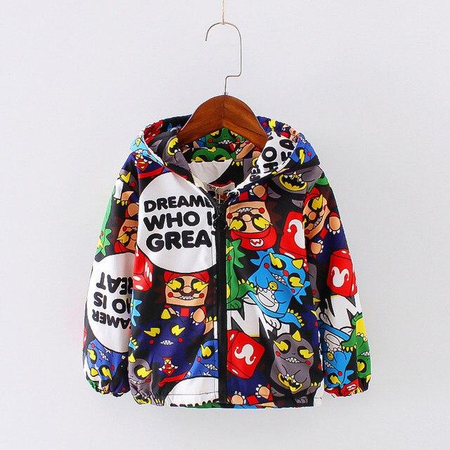 Детское пальто с ушками красивая теплая флисовая куртка для Обувь для девочек зима мультфильм Куртки с монстрами для Обувь для мальчиков Новинка пальто с капюшоном детская