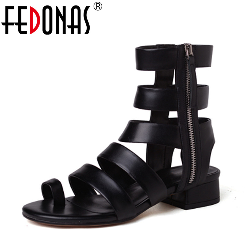 FEDONAS Women Sandals Gladiator High Heels Strap Pumps Lace up Female Shoes Woman Fashion Rome Style