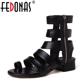 FEDONAS Women Sandals Gladiator High Heels Strap Pumps Lace-up Female Shoes Woman Fashion Rome Style Summer Ladies Shoes