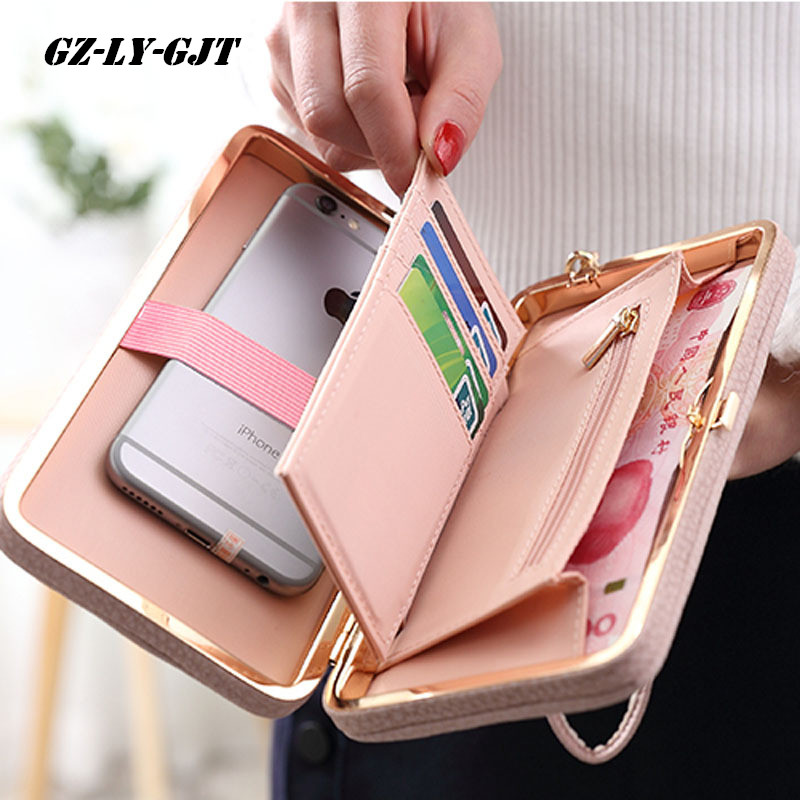 New Fashion Purse Wallet Female Famous Brand Card Holders Cellphone Pocket Gifts For Women Money Bag Clutch Coin Purse Ladies yogobor brand purse wallet with bow female famous brand card holders cellphone pocket gifts for women money bag clutch
