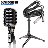 55SH Metal Professional Vocal Dynamic Vintage Microphone Holder Wired Mic Stand For DJ Mixer Audio Karaoke KTV Studio Recording