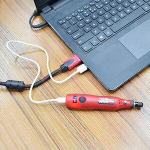Image 5 - NEWACALOX DIY Mini Dreh Werkzeug USB DC 5V 10W Variable Geschwindigkeit Drahtlose Elektrische Grinder Set Holz Carving Stift für Fräsen Gravur