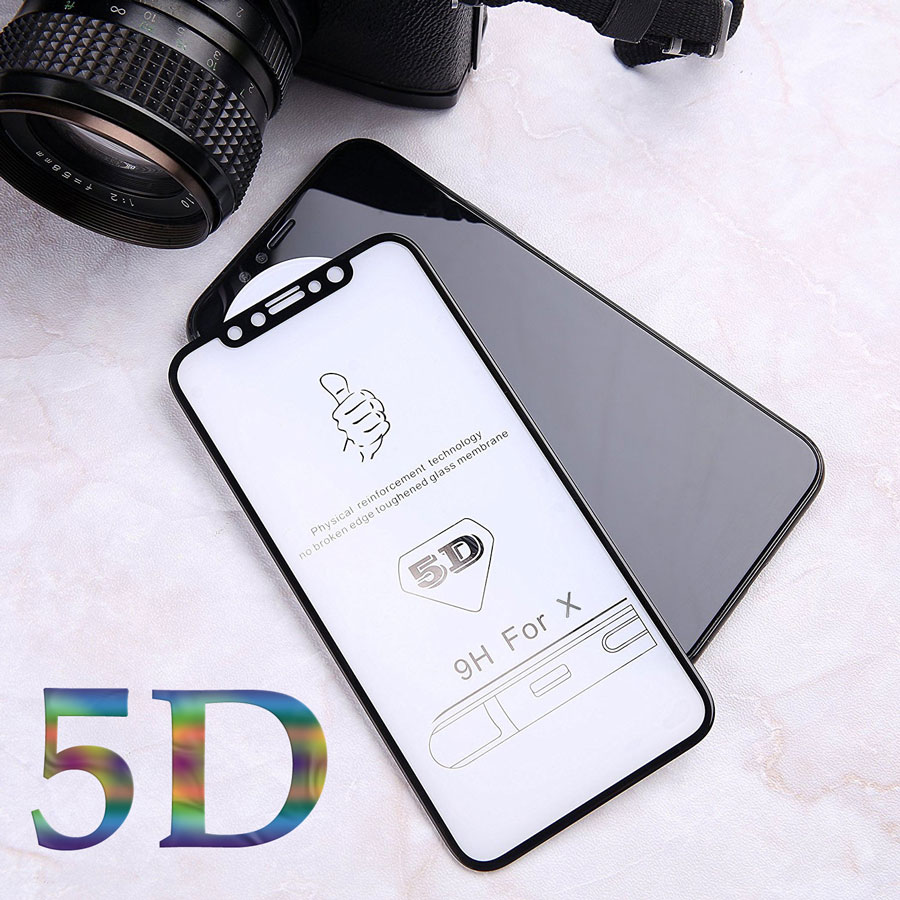 Galleria fotografica Hardness 5D Curved Edge Full Cover Tempered Glass for iPhone X 6 glass For iPhone 6s 7 8 Plus Screen Protector film (Better3D)