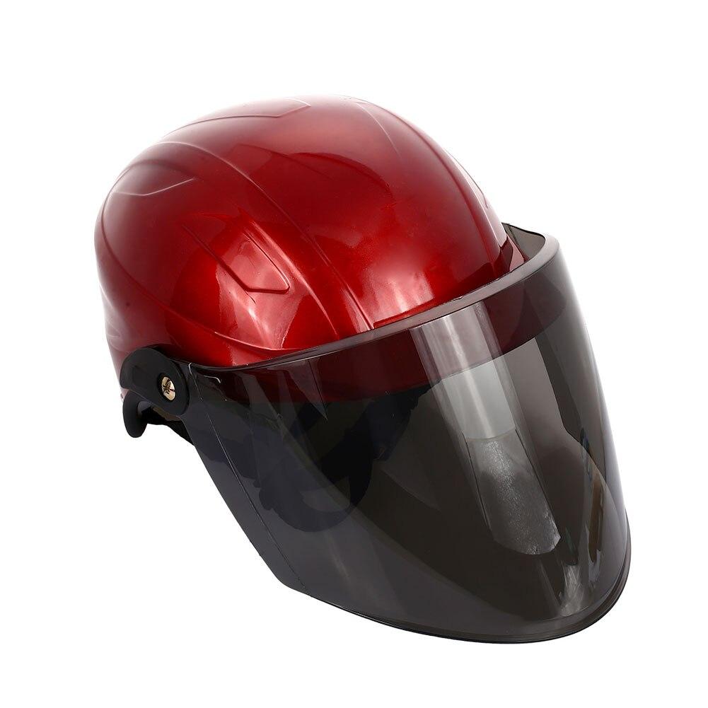 Полудуплексный Универсальный мотоциклетный шлем Велоспорт Спорт Craniacea прочные кепки Защитная шляпа - Цвет: red
