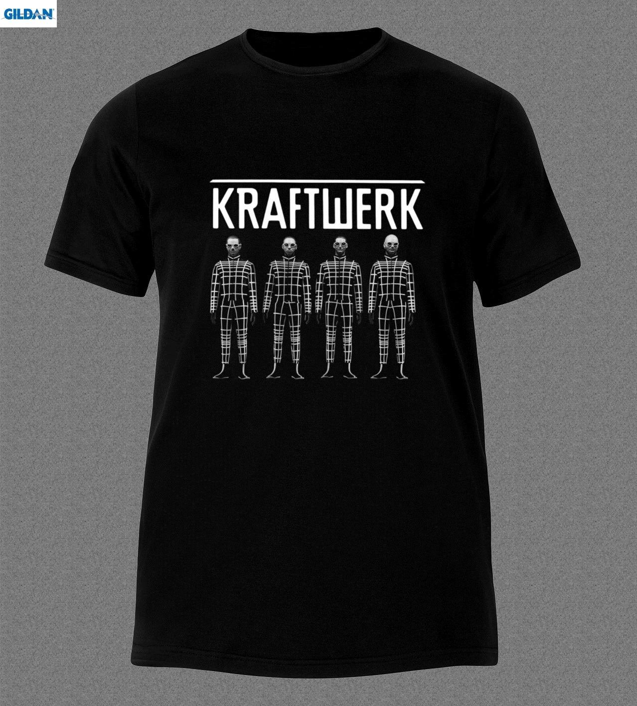 GILDAN KRAFTWERK BAND ELECTRONIC ART POP MUSIC GERMAN T-Shirt Stranger Things Print T Original Tee Hipster O-Neck