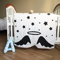 Free shipping Newborn Baby Blanket 100% Cotton White Bedding Cartoon Kids Summer quilt Sofa Floor Playing Carpet Mats 130X90cm