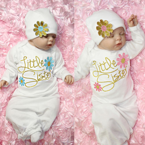 Newborn Baby Girl Take Home Outfit Baby Girl Gift Set Baby Gown