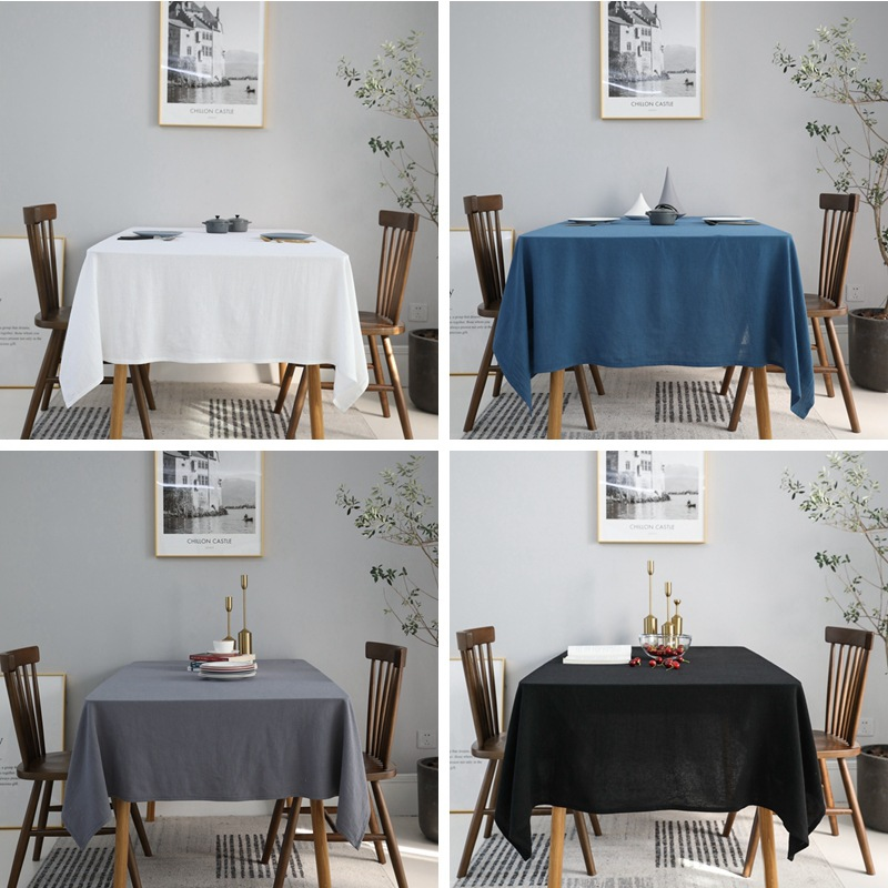 Ins Nordic simplicity style solid color tablecloths Restaurant tablecloth party wedding table decoration cover coffee mat