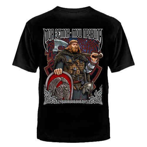 Camiseta Rusia ruso mi tierra mis reglas el culto Kolovrat hombres ropa de PUTIN