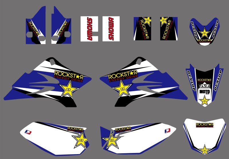 0490 Star New TEAM GRAPHICS&BACKGROUNDS DECALS STICKERS Kits For Yamaha TTR50 TTR 50 2006 2007 2008 2009 2010 2011 2012 2013