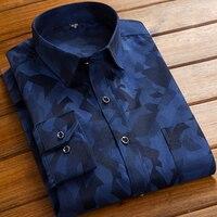 Autumn 2016 Men S Luxury Design Floral Printed Dress Shirt Long Sleeve Slim Fit Comfort Soft