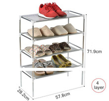 цена на Free shipping Non-woven Shoe Display Shelf fashion Shoes Storage Cabinet Rack Organizer Assemble Shoe Cabinet DIY Shoes Stand