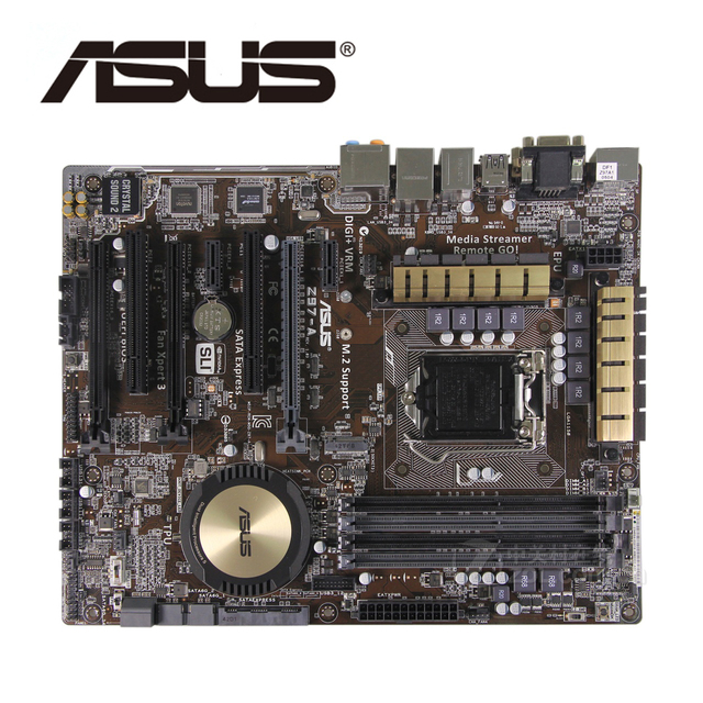 LGA1150 DDR3 Z97 For ASUS Z97-A 100% Original Motherboard USB3.0 32G Z97A Desktop Mainboard SATA III Mother board PCI-E X16 Used