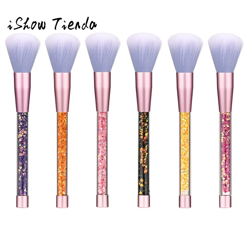 6 Pc Soft Nylon wool makeup brushes set Contour Face Powder Foundation eyeshadow Blush Brush Makeup Cosmetic Tool 2018 Women new design stamp seal shape face makeup brush foundation powder blush contour brush cosmetic facial brush cosmetic makeup tool