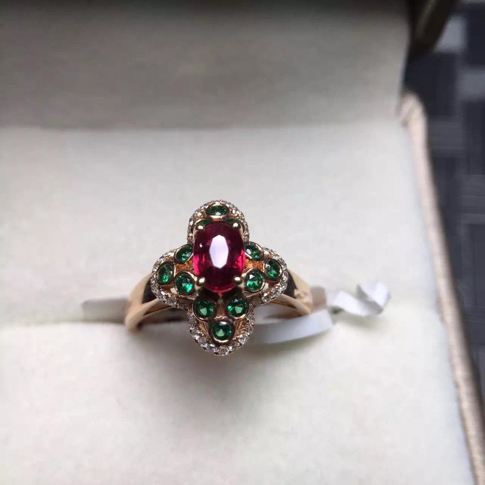 sold canbe customized/ real fine jewelry 18k white gold Sri Lanka origin natural ruby wedding ring