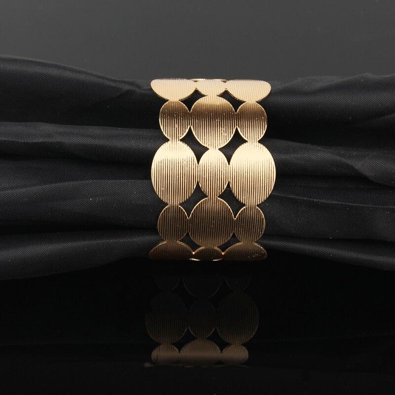 fc007907e084 1 unid tibetano Metal europeo chapado en oro plata hueco abierto brazalete  pulseras para las mujeres Femme Oval joyería de la pulsera de B12