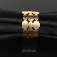 1PC Tibetan European Metal Gold Silver Plated Hollow Wide Open Bangle Cuff Bracelets For Women Femme Oval Bracelet Jewelry B12(China)