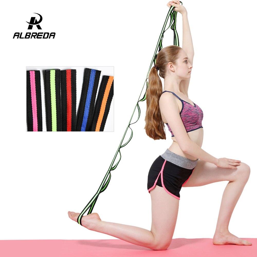ALBREDA 210*2.5cm yoga strap Training Belt Waist Leg fitness gym Yoga rope flexibility exercises split leg extension training