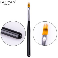 Nail Art Gradient Uneven Brush Pen Nylon Hair UV Gel Polish Tips Serrated jagged Drawing Painting Black Wood DIY Tools Manicure(China)
