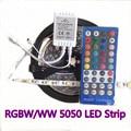 RGBW 5050 SMD LED Strip Light Waterproof DC12V/24V RGB 5M 300Leds Flexible +White Diode Tape +RGBW 40key IR Remote