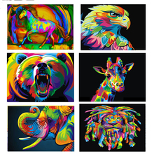 """Square Diamond 5D DIY Diamond Painting """"Colorful Animals""""  Embroidery Cross Stitch Mosaic Home & Garden Arts Sewing Craft Decor"""