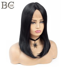 BCHR Natural Black 13*4 Lace Front Synthetic Wig for Black Women Side P