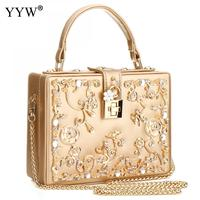 Luxury Women Bags Designer Sequin Evening Party Bag For Female Gold Tote Bag PU Leather Handbag