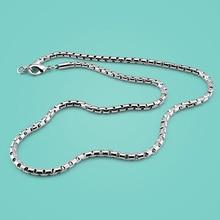 Men 925 sterling silver necklace,fashion box chain design,Men's popular silver jewelry,Solid silver necklace,5mm 51cm chain