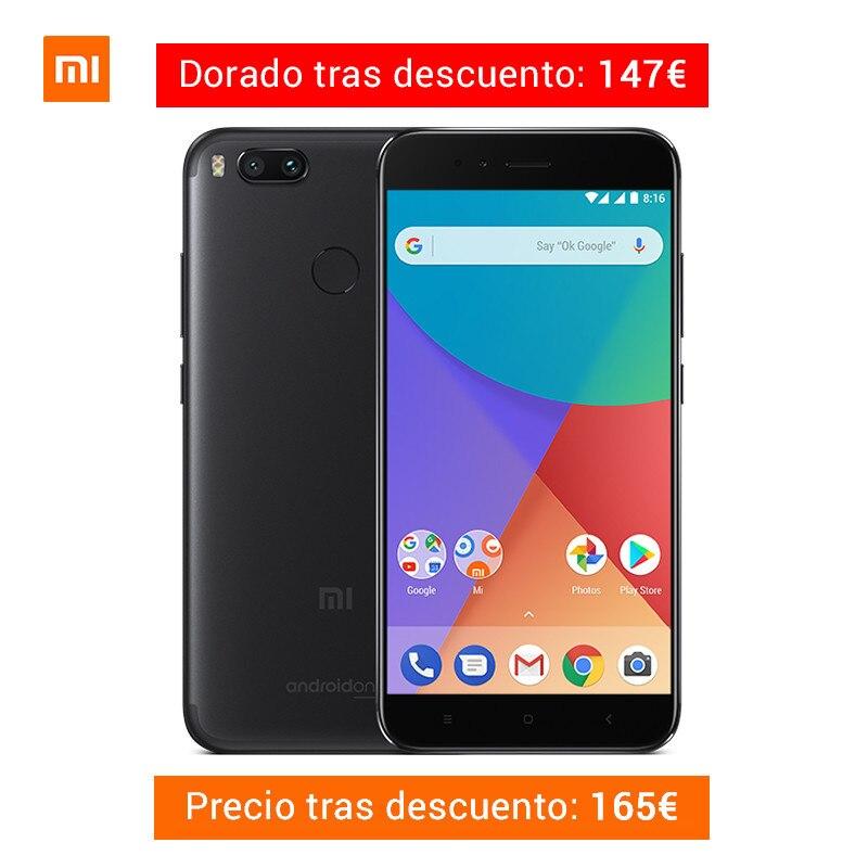 Xiao mi A1 4 ГБ Оперативная память 32 ГБ Смартфон Snapdragon 625 телефона 5,5 дюймов двойной камеры 12MP LTE 4 г Android ОДИН Глобальный Версия