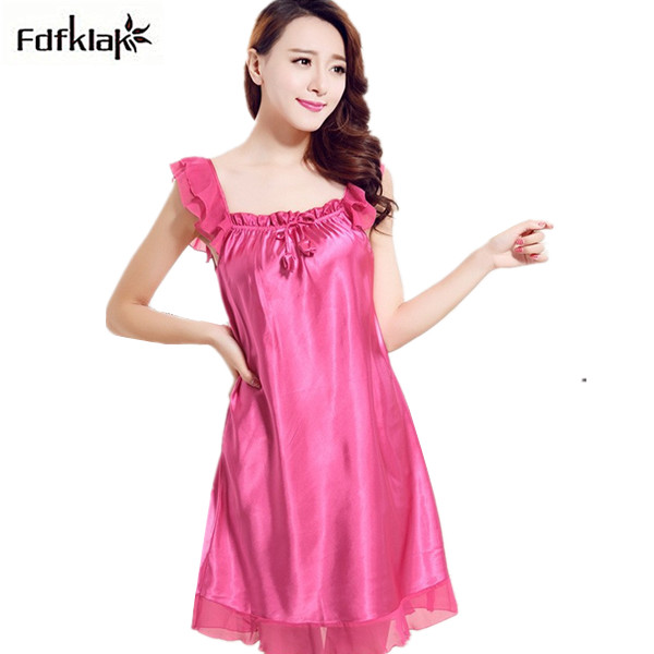 Silk Dressing Gowns Ladies: Large Size Silk Nightgown Ruffles Dressing Gowns For Women