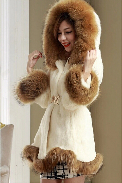 hot Fashion Winter Faux Fur Coat Women High Grade Belt Slim was ...