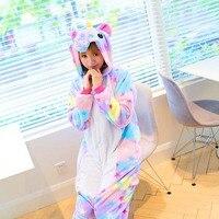 Halloween Cosplay Cute Pajama Sets Cartoon Sleepwear Women Pajamas Flannel Animal Stitch Horse Unicorn Pajama Winter