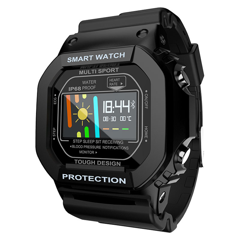 LOKMAT Bluetooth Smart Watch Men Waterproof IP68 Color Touch Screen Heart Rate Monitor digital SmartWatch women For Android ios