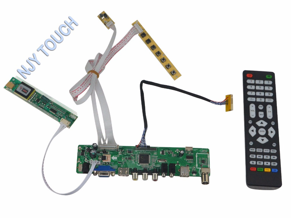 HDMI+AV+VGA LCD Controller Board Inverter Monitor Kit for LTD133EX2X 1280X800