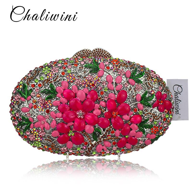 Women's Fashion Luxury Diamond Crystal Evening Bag Party Handbags Circular Diamante Crossbody Bags For Lady Clutch Day bags