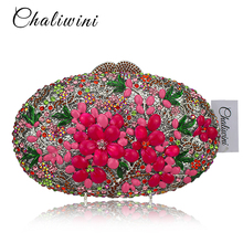 hot deal buy newest fashion luxury diamond crystal evening bag party handbags multicolor diamante clutch purse egg day clutches