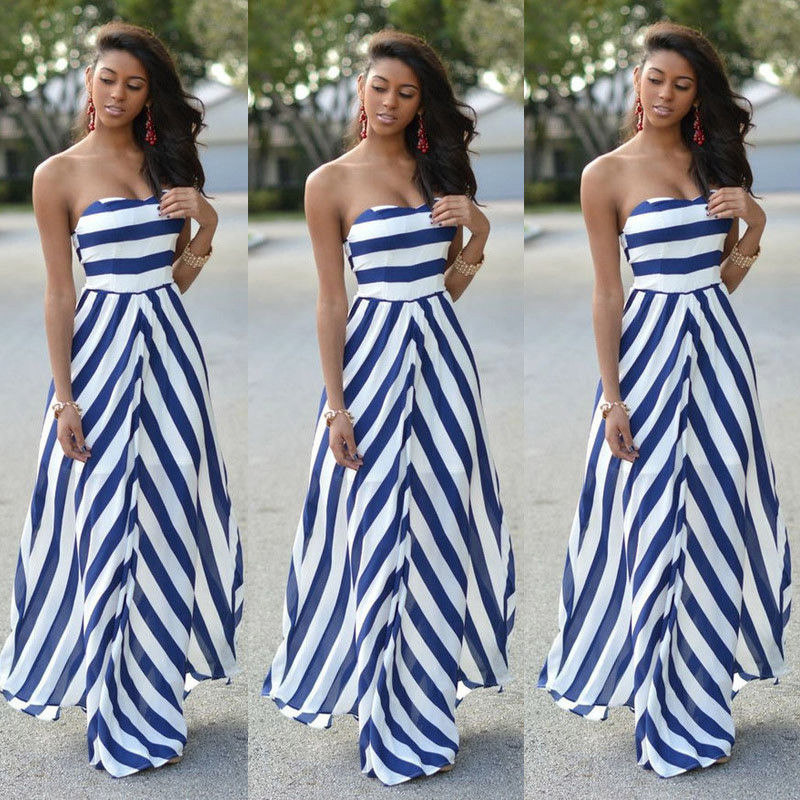 HTB1erXZaoY1gK0jSZFMq6yWcVXaV Womens Off Shoulder Striped Maxi Dress Party Long Maxi Beach Sundress Sexy Sleeveless Backless Dress Summer Dress Womens 2019