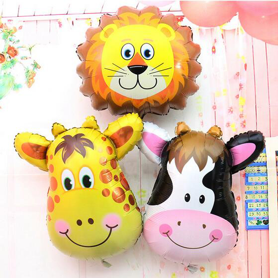 Giraffe Zebra Cow Monkey Birthday Party Balloon Animal Pet Foil Balloon for Chil