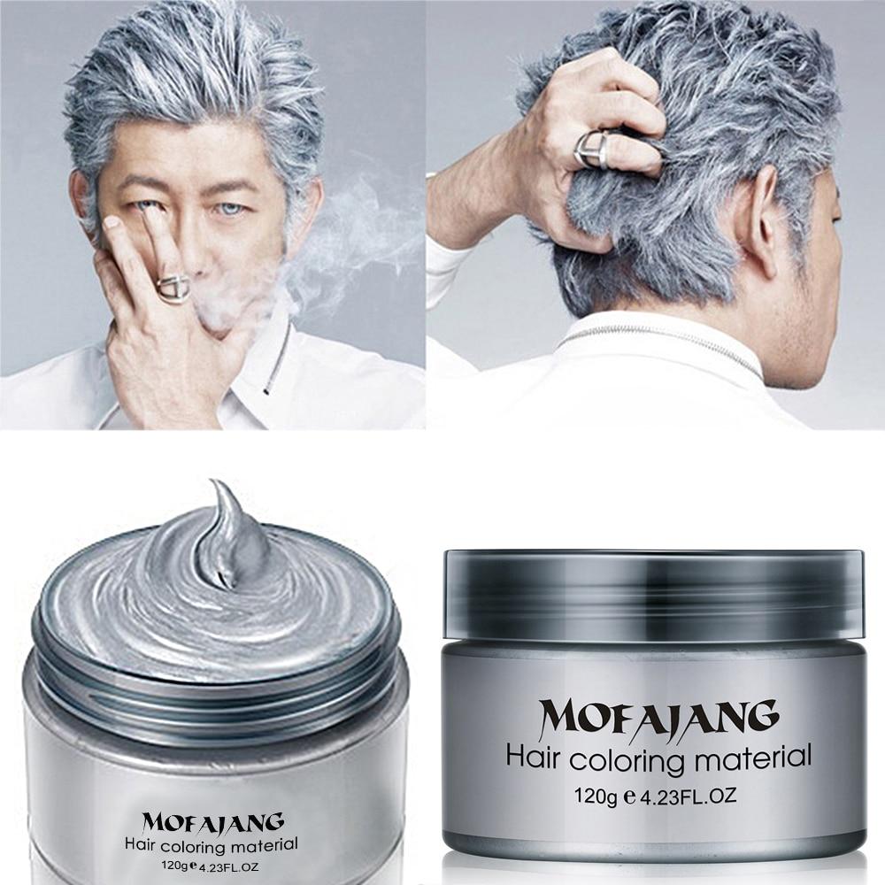 Farve hår voks styling pomade sølv bedstemor grå midlertidig hår - Hårpleje og styling - Foto 2