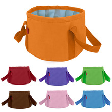15L Foldable Portable Outdoor Travel Foldable Folding Camping Washbasin Basin Bucket Bowl Sink Washing Bag Foot Bath Bucket