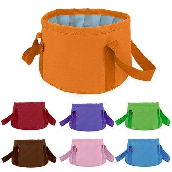 15L pliable Portable extérieur voyage pliable pliant Camping lavabo bassin seau bol évier sac de lavage pied bain seau