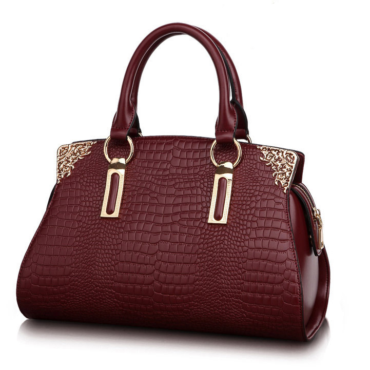 New Arrival Amasie Genuine Alligator Leather Vintage Fashion Lady Women Handbag Brand Designer Woman Casual Tote EGT0206 2015 lady s fashion new arrival women s handbag 100